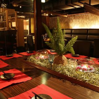 ◆肉BAR居酒屋・4つの空間・完全個室×VIP:2~40名◆