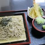 食彩工房 海浜館食堂 - 料理写真:天ざるそば(¥980)