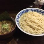 麺舗 十六 - つけそば750円麺量2.5(580g) ネギ増し