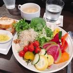 スープカレーと季節野菜ダイニング 彩 - ある日のお野菜ブュッフェ その1