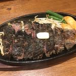 1ポンドのステーキハンバーグ タケル - 黒炭塩サーロインステーキ(ダブル・250g)2090円