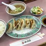 69276094 - 味の丸嘉(餃子(肉)定食)豚汁付