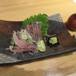 Teuchisobakiritakumi - 「黒むつ炙り刺し」