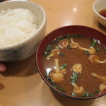 はせ川 - ご飯&味噌汁