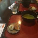 苔筵 - 苔まんじゅうと、唐饅と抹茶のセット