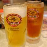 金燕楼 - おビールと烏龍茶