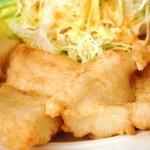 海産物 えんがん - 白身魚のバター焼き定食  ズーム