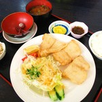 海産物 えんがん - 白身魚のバター焼き定食