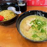 糸島ラーメン ゆうゆう - 料理写真:「Cセット」(1,000円)ラーメン+やきめしのセット。ダブルな丼で凄いボリューム!