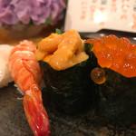 Sushi TOCHINO-KI - たい、えび、うに、いくら