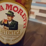 博多イタリアンチーズバル バルバル - モレッティ(イタリアビール)。