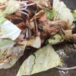 亀八食堂 - 混ぜ 焼く 混ぜ 焼く