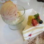カフェ ピーチェ - 【ショートケーキ(単品 280円)】をチョイス♪