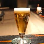 牛のよたれ - 生ビール
