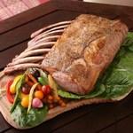 イタリアン&グリル アクア イルフォルノ - 黒豚のトマホーク