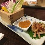 とり徹 - 特製味噌で食べるお野菜とささみの燻製