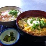 うどん田中 - 親子丼セット 600円 親子丼にかけうどんミニのセット