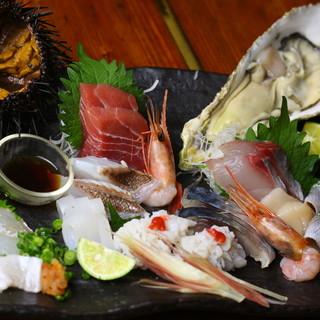 ◇新鮮魚介◇毎日市場から仕入れる鮮魚をご堪能あれ