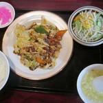 満福楼 - 料理写真:ホイコーローセット