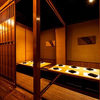 落ち着いた雰囲気が自慢の和個室はご接待やご会食に最適!
