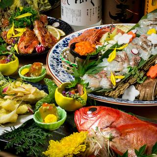【産地直送の海鮮使用】人気の海鮮宴会コースは3000円より!