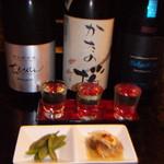 俺の和食英二 - 飲み比べ3点セット・ちえびじん・かたの桜・Takachiyo