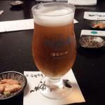 69303892 - 生ビールとお通しの生ウニ