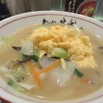 タンメン笑盛 - ふぁ~タンメン800円。 たっぷり野菜と玉子の塩味タンメン。