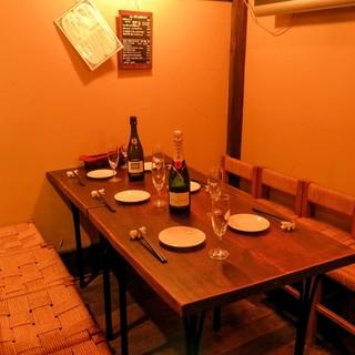 大切な日のご利用など中規模の飲み会に最適【4~8名様テーブル席】