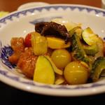 中国料理 翠 - 夏野菜とフレッシュトマト入り酢豚