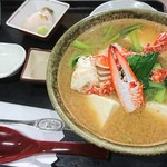 めし処 月の魚 - カニ汁定食