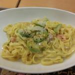 ファーストキッチン - 料理写真:アボカドとサーモンのパスタ