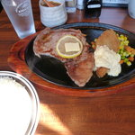 かぼす - リブロースと白身魚フライのランチ1,080円
