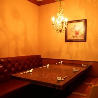 完全個室席は5名様からご予約可能です。