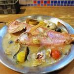 シソーノ - 日替わり鮮魚のアクアパッツァ金目