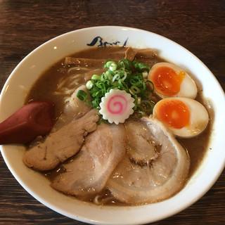 麺や 紡 - 料理写真:大盛り熟成らー麺+味玉