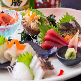 鮮度抜群の花まるの寿司/炉端焼き/一品料理/銘酒を!