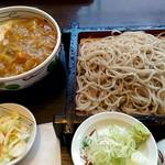 ごまそば遊鶴 - 和食カレーセット。700円。