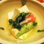太閤本店 - 牛旨煮定食 1,400円(税別)の 玉子豆腐。