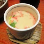 太閤本店 - 牛旨煮定食 1,400円(税別)の 茶碗蒸し。