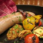香川産 オリーブ豚のサルシッチャとグリル野菜