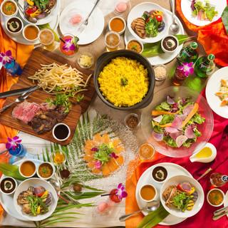 世界のカレーパーティー&牛ステーキ・パスタ食べ放題