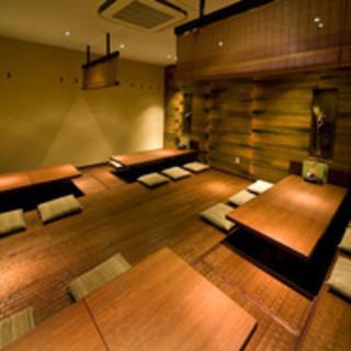 4名半個室~40名フロア貸切多彩な個室
