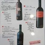 69331820 - 赤ワインメニュー