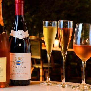 ★贅沢な時間に酔うー。ロゼワインなどグラスで楽しむワイン。