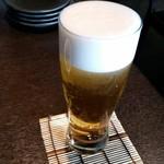 SOBA DINING 空楽 - 空楽 生ビールで乾杯