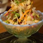 メデ・イタシ - 大豆と有機野菜のサラダ 2017.6