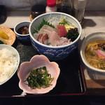大黒屋 - お刺身定食。一日、限定5食で美味しいです。