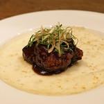 齋華 - 牛肉と加茂茄子のクレープ包み
