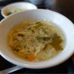 桃源楼 - トロミスープ付き